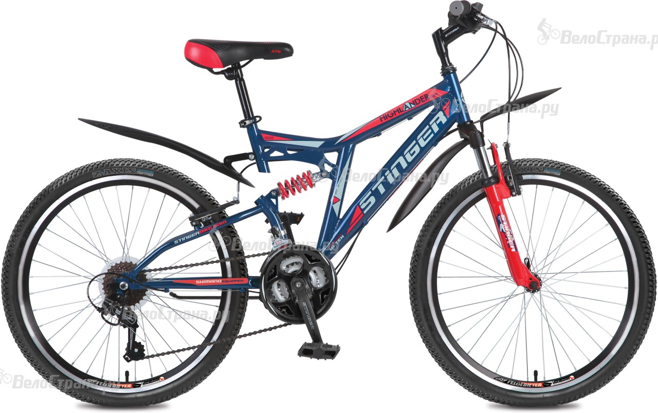 Велосипед Stinger Highlander 150V 24 (2016) велосипед stinger х72821 к highlander 150v 16 2016 blue