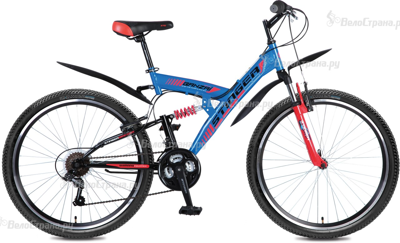 Велосипед Stinger Banzai 26 (2016) велосипед stinger cruizer 26 2016