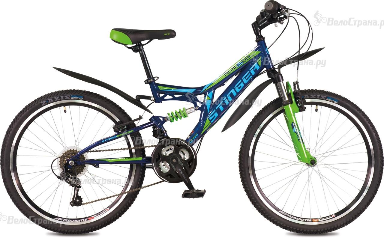Велосипед Stinger Highlander 100V 24 (2016) велосипед stinger х72821 к highlander 150v 16 2016 blue