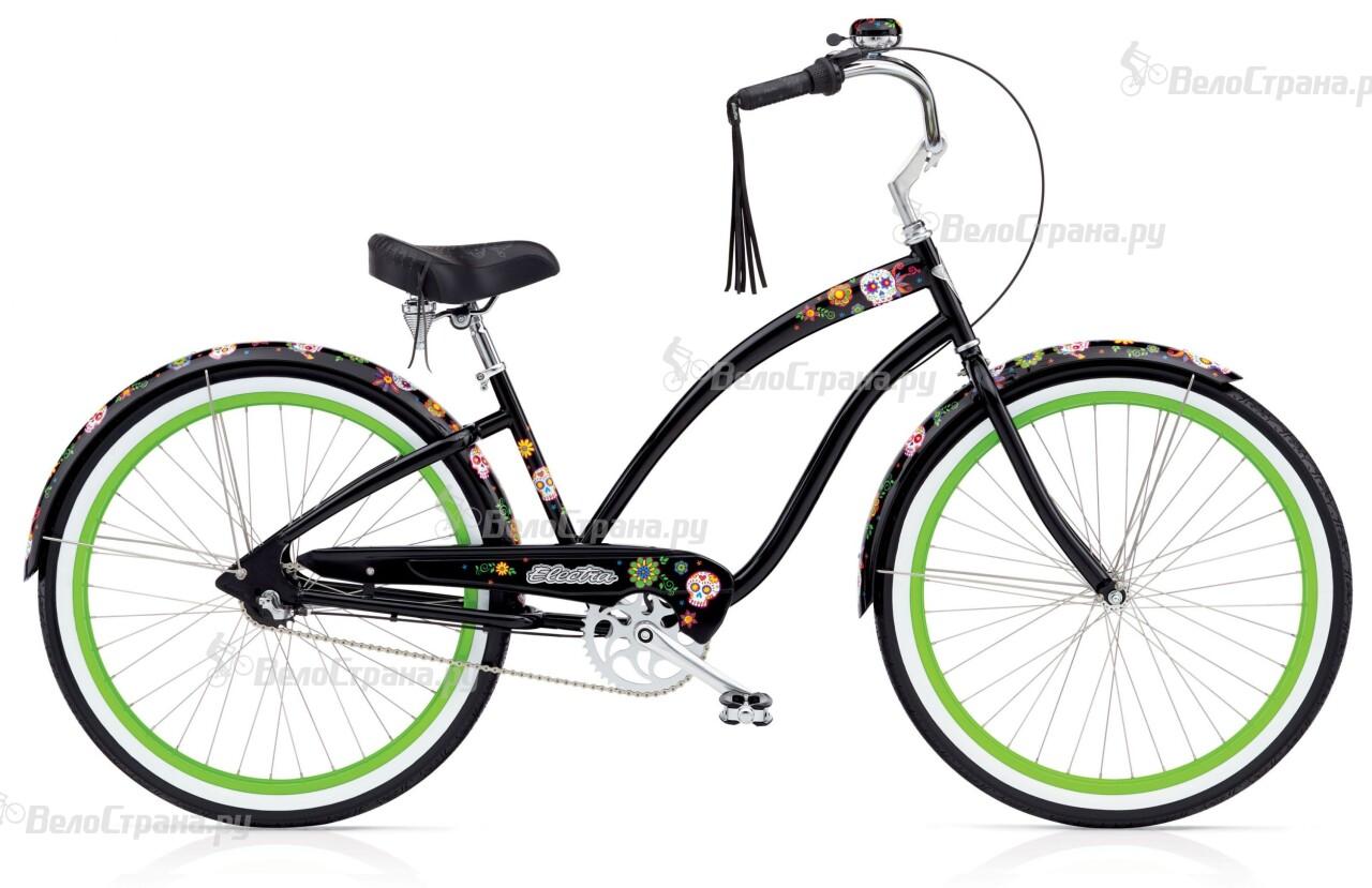 Велосипед Electra Cruiser Sugar Skulls 3i Ladies' (2016)