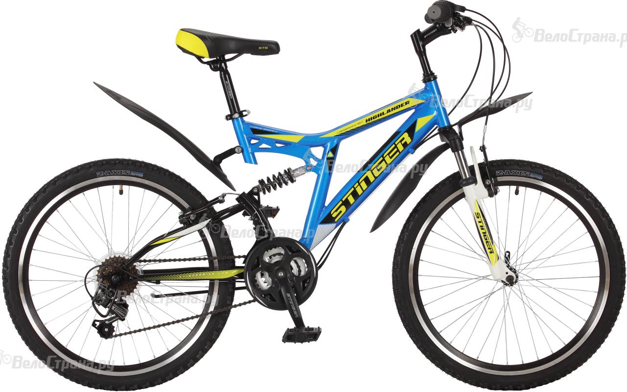 Велосипед Stinger Highlander 100V 24 (2017) велосипед stinger х72821 к highlander 150v 16 2016 blue