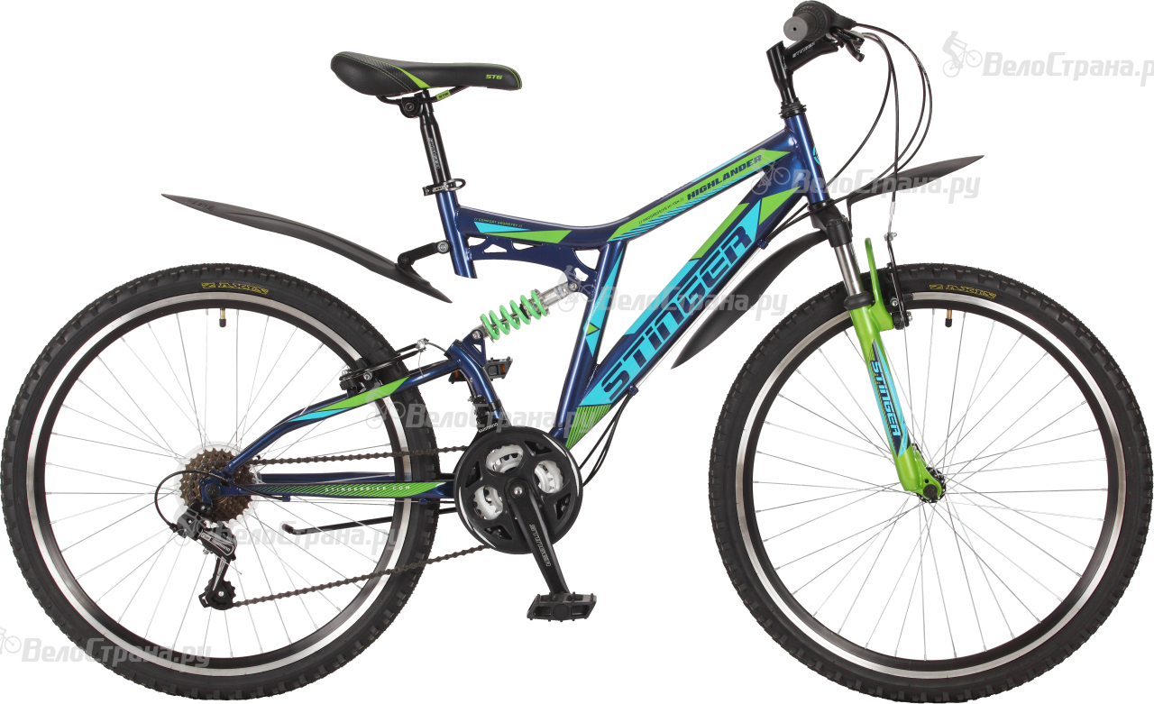 Велосипед Stinger Highlander 100V 26 (2017) велосипед stinger х72821 к highlander 150v 16 2016 blue