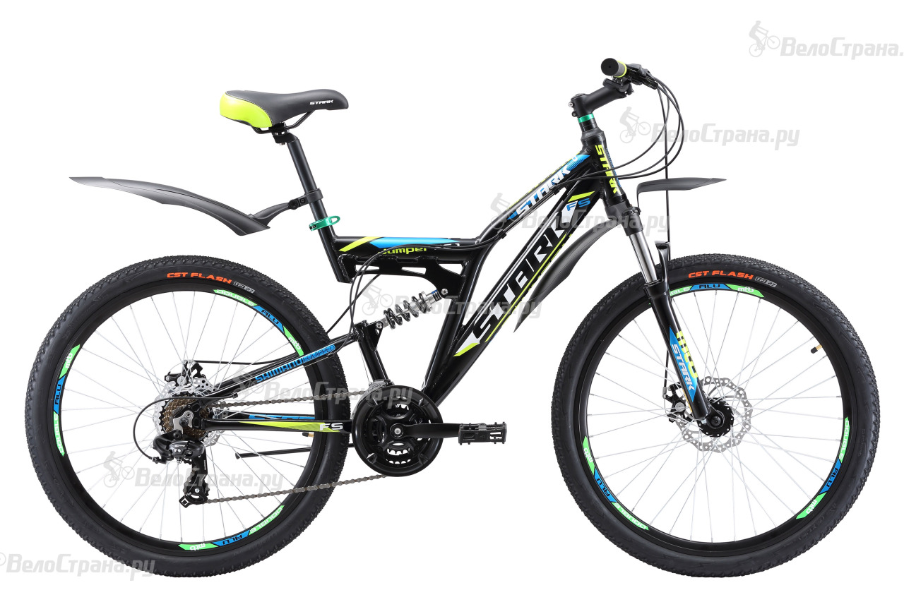 Велосипед Stark Jumper 26.1 FS D (2017) stark jumper 18 2016 black green