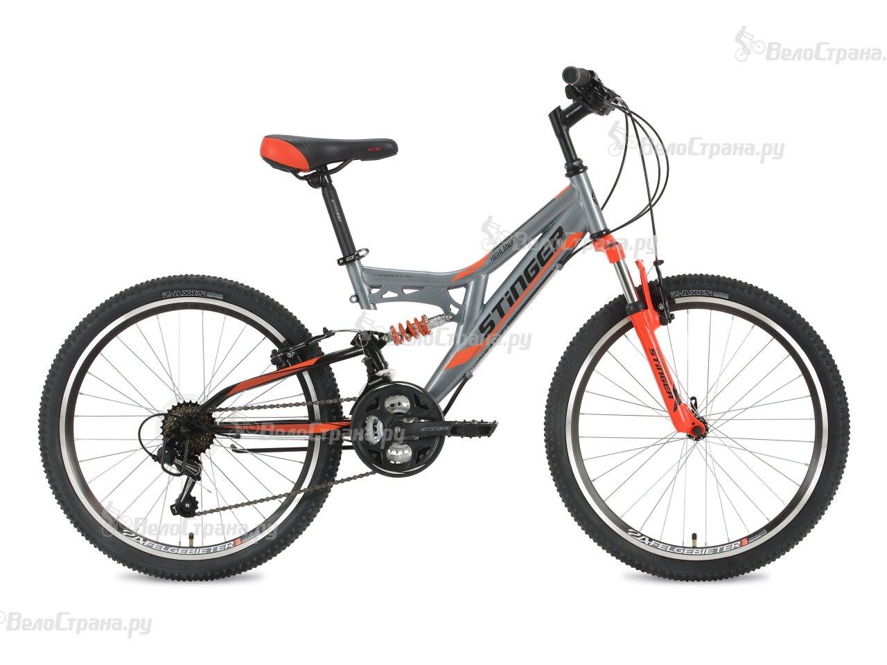 Велосипед Stinger Highlander 24 (2018) велосипед stinger х72821 к highlander 150v 16 2016 blue
