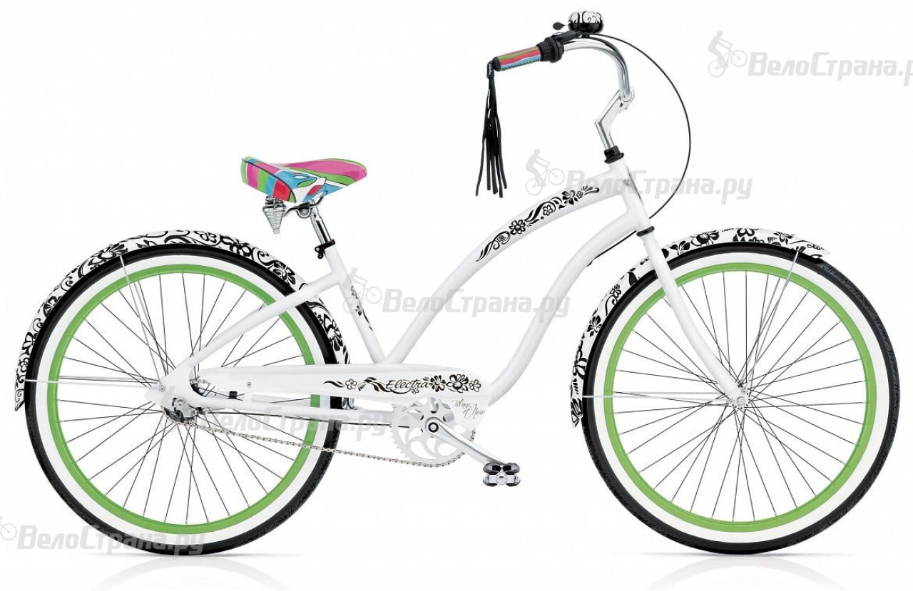 Велосипед Electra Cruiser Blanс et Noir 7i Ladies' (2016) велосипед electra hell betty tandem 7i 2016