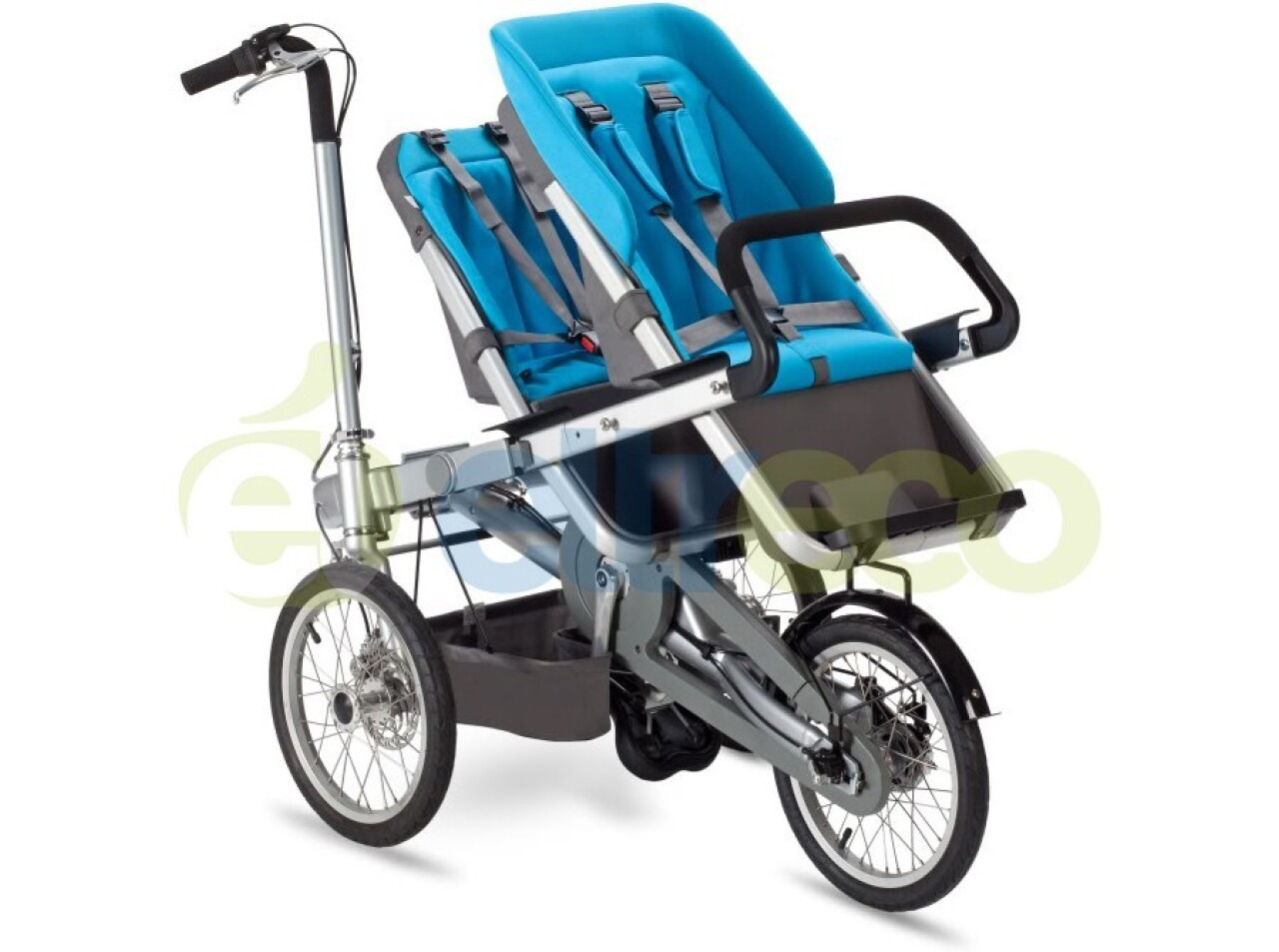 Велосипед Eltreco Taga с двумя детскими креслами (2015)