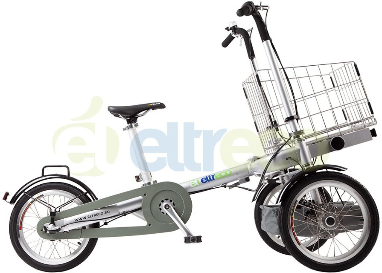 Велосипед Eltreco Taga с креслом и корзинкой (2015)